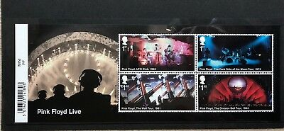 2016 PINK FLOYD LIVE Mini sheet with Barcode margin. MS 3855. MNH.