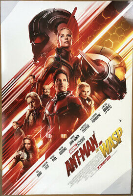 ANT-MAN AND THE WASP MOVIE POSTER 2 Sided ORIGINAL INTL FINAL VF 27x40 PAUL RUDD