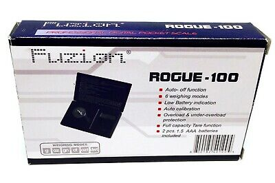 Professional Digital Pocket Scale 100g x 0.01g Fuzion ROGUE-100 In 6 Mode UK