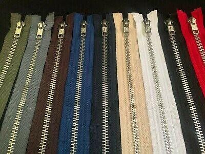 Ykk Metal Open Ended Zip ~Silver Teeth  ~Choice Of Length & Colours~Fast Postage