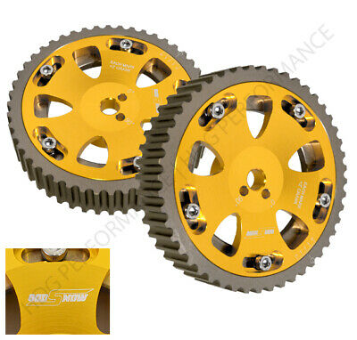 ReplacementAdjustable 2 Piece Cam Gear Shaft Wheel Gold 4G63 Engine Only Fit Mitsubishi EVO 1-8//Eclipse//Galant//Dodge Colt