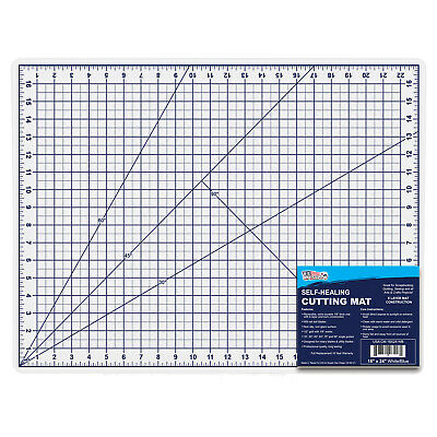 "18"" x 24"" WHITE/BLUE Self Healing 6-Ply Double Sided Durable PVC Cutting Mat"