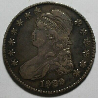 1829 Capped Bust Half Dollar LP1
