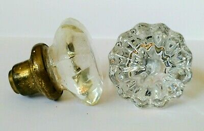 Antique vintage glass door knobs