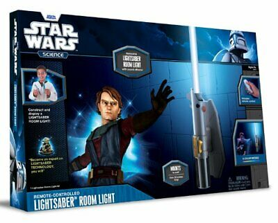 Uncle Milton Star Wars Remote Control Lightsaber Room Night Light 8 Color Saber