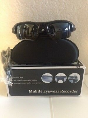 NEW Mobile Eyewear Recorder Sunglasses Hidden Camera DVR Camera Camcorder Video