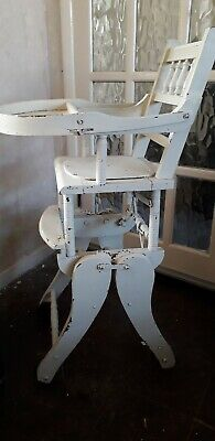 Antique Victorian High chair Rocking Chair Metamorphic childs tv prop shop prop