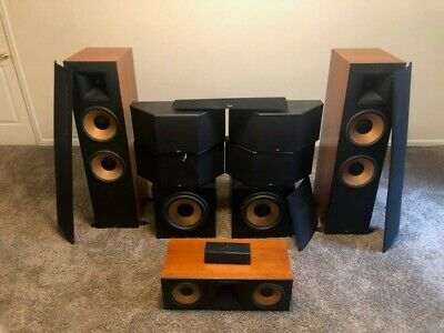Klipsch Surround Sound >> Klipsch 7 1 Surround Sound Speakers Front Center Surround And