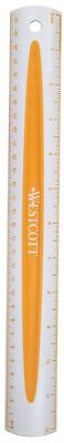 "Westcott 12"" Soft Touch School Ruler With Anti-Microbial Protection, Assorted Gr"