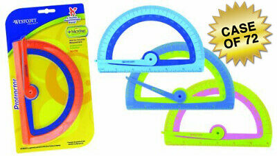 Westcott Kids Soft Touch School Protractor With Anti-Microbial Protection, Assor