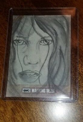 2018 Topps The Walking Dead Road To Alexandria Maggie 1 Of 1 Sketch Drummond