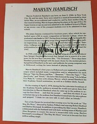 Hand Signed Autograph on Program Page by Marvin Hamlisch