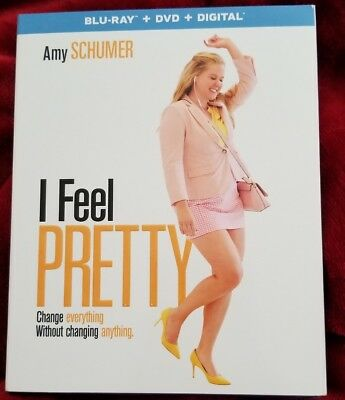 I Feel Pretty 2018 Bluray Dvd Digital Hd Uv Brand New W Slipcover Amy Schumer