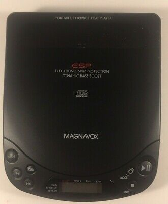 Magnavox Personal Portable CD Player ESP Dynamic Bass Boost AZ6844/17 Vintage