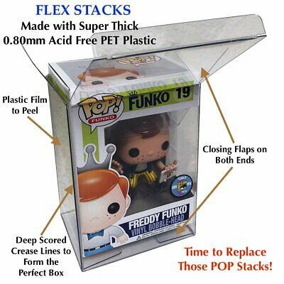 "1 Funko POP! 4"" Flex Stack 0.80mm Thick Plastic Better Than A Thin Pop Protector"