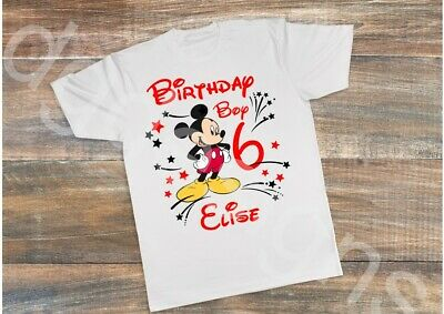 Childrens Personalised T Shirt*Birthday Any Age*Mickey Mouse Birthday Boy
