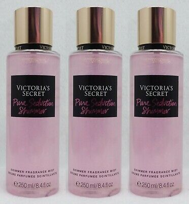 3 Victoria's Secret PURE SEDUCTION Shimmer Fragrance Body Mist 8.4 oz
