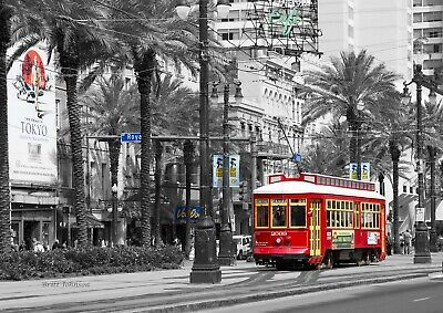 Royal Street, Streetcar by Britt Johnson Signed and Numbered size 16 x 24