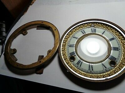 Antique-Ansonia-China Cased Clock-Bezel & Glass & Dial-Ca.1890-#T421N