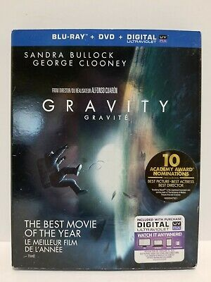 Gravity: Blu-ray / DVD movie - Canadian - NO SCRATCHES - tested - with Warranty