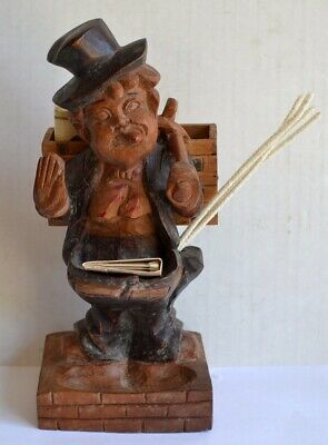 Vintage CARVED HOBO SMOKER'S CADDY Cigarettes / Pipes / Matches / Pipe Cleaners