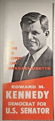 1 Edward Ted Kennedy Senate Campaign Flyer 1962