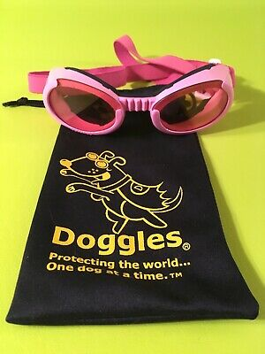 Pink Doggles dog motorcycle/wind goggles