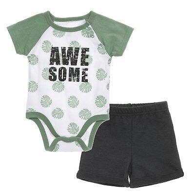 23e9a187a CHICKPEA BABY BOY Outfit 3-6 Months Gray Elephant Bodysuit Pants ...