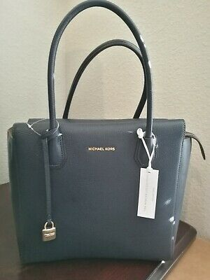 96a66092e29c77 NWT Michael Kors Mercer Large Satchel bag voyager tote MSRP $328 pebble  leather