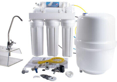 Water Filtration System 50 GPD 5-Stage Under-Sink Reverse Osmosis Hardware White