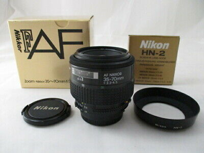 【N MINT w/ BOX Hood】Nikon zoom New Nikkor AF 35-70mm f/3.3-4.5 Lens Japan #1948