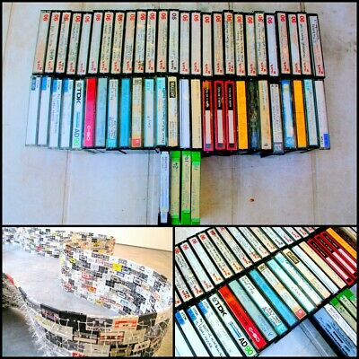 Bulk lot 54x Pre-Recorded Cassette Tapes with Case