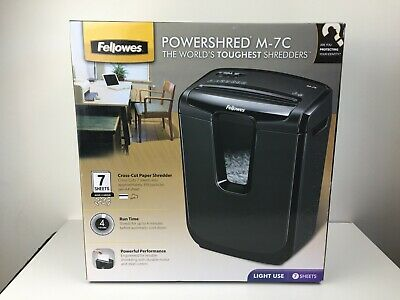 Fellowes Powershred - M-7C - 7 Sheets At A Time - Paper Shredder - NEW