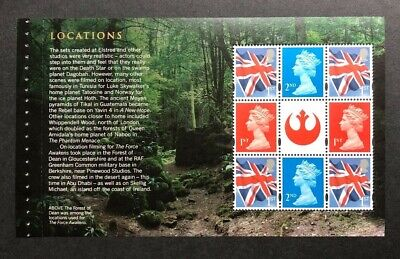 2015 Star Wars Definitive Booklet Pane DP 492. Ex DY15. Unmounted mint.