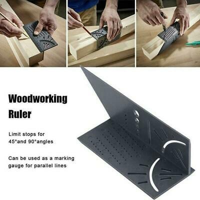 3D Woodworking Ruler Mitre Angle Measuring Gauge Square Size 45° 90°Measure-Tool