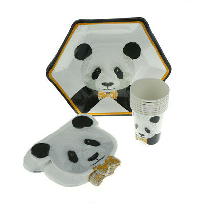 Lovely Panda Series Disposable Paper Cups Plates Napkins DIY Party Decoration