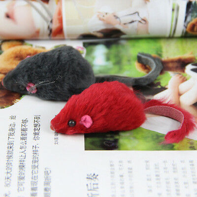 2x Soft Fleece False Mouse Cat Toys Funny Playing Toys For Cats Kitten