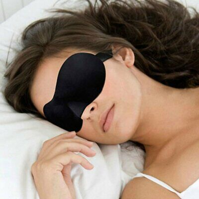 3D Eye Mask Soft Padded Sleep Travel Shade Cover Rest Relax Sleeping Blindfold-A