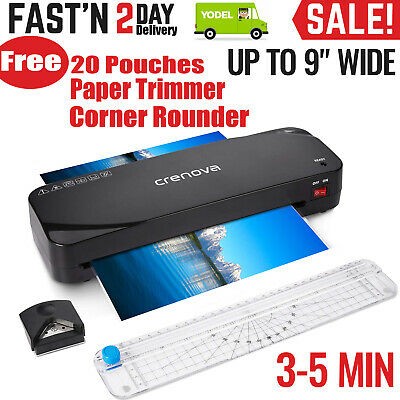 A4 Hot Laminator Laminating Machine with Trimmer/Corner Rounder &Free 20 Pouches
