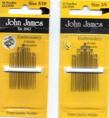 John James Twin Point Quick Stitch Needles Tapestry & Cross stitch