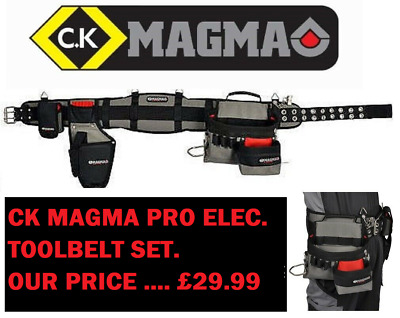 Ck Magma Padded Electricians Toolbelt Set With Drill Holster & Phone Holder 2715