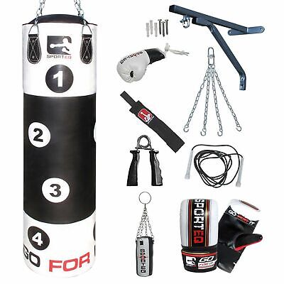 Sporteq 5ft Wide Target Punch Bag Kickboxing Heavy Duty Punching Training Set