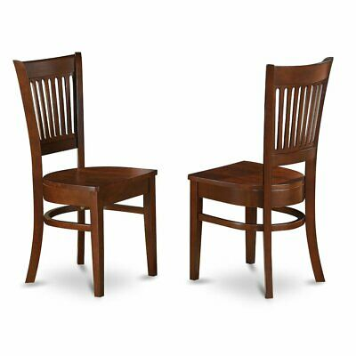 Vancouver    Wood  Seat  Dining  Chairs  in  Espresso  Finish,  Set  of  2
