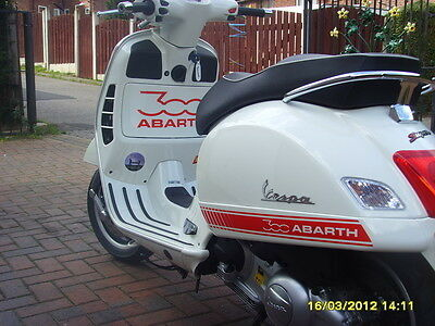 Vespa Malossi Abarth Style Body Kit Decal More Colours! Vinyl Gts 300