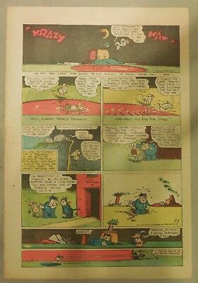 Krazy Kat Sunday by George Herriman from 11/1/1942 Tabloid Size Page
