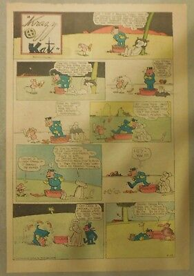Krazy Kat Sunday by George Herriman from 9/13/1936 Tabloid Size Page