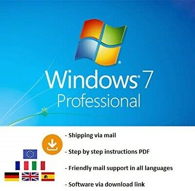 Microsoft Windows 7 Professional 32/64 bit system product key