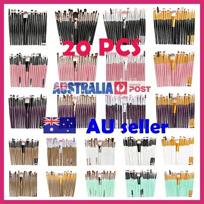20PCS Makeup Sets Brushes Foundation Eyeshadow Eyeliner Lip Cosmetics Powder Pro