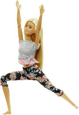 Barbie Made to Move Doll - Original with blonde hair,