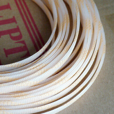Clear&Gold 3-16mm Braided Cable Sleeving/Sheathing - PET Auto Wire Harnessing
